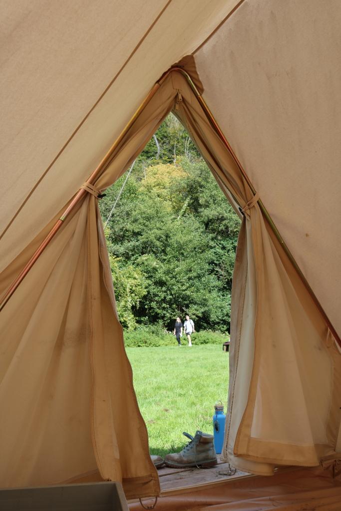 View fron inside a Biblins Bell Tent